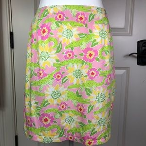 ☀️Lilly Pulitzer alligator skirt size 6☀️